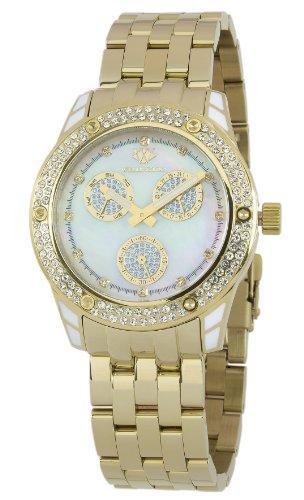 Wellington WN507-289 - Reloj analógico de cuarzo para mujer con correa de acero inoxidable, color dorado