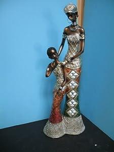 Amazoncom Black African Lady women figurine statue with
