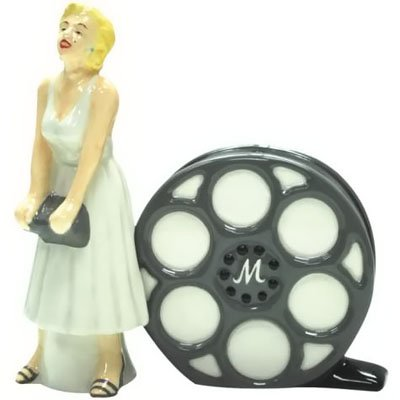 WHITE DRESS MARILYN & FILM S&P SHAKERS
