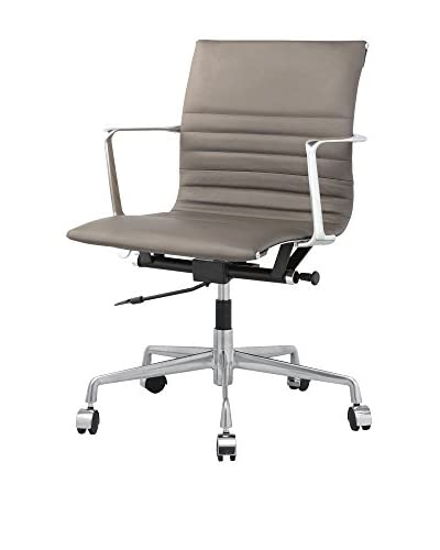 Meelano M346 Office Chair In Sand Italian Leather