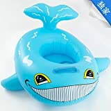 Newest Blue Baby Swim Float Dolphin Child Boat Baby Child Swim Seat Ring Boat Swimming Ring Baby Swim Ring
