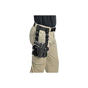 BLACKHAWK! Serpa Level 2 Tactical Black Holster, Size 00, Left Hand, (Glock 17/19/20/21/22/31/32 S&W M&P 9/40/45 )