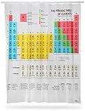 未来の化学者に?! お風呂で 勉強 元素周期表 プリント シャワーカーテン