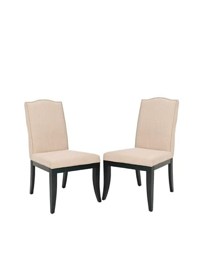 Safavieh Wayne Set of 2 Side Chairs, True Taupe