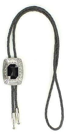 Western Men's Rectangle Bolo Tie Silver One Size at Amazon Men