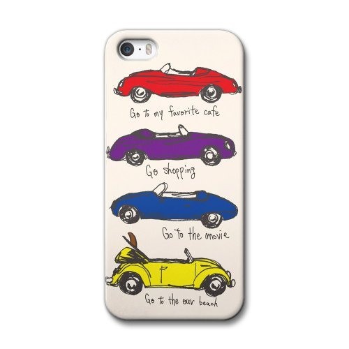 33design×collaborn iPhone5/5s専用スマートフォンケース 4 OPEN CAR Ivory BR-I5S-042
