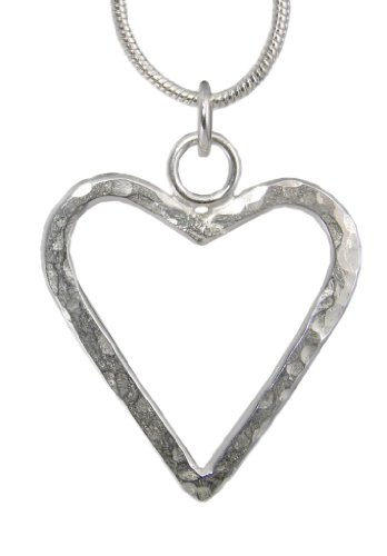 Handmade 925 Sterling Silver Hammered Heart Pendant / Necklace FREE Delivery in UK - Gift Wrapped