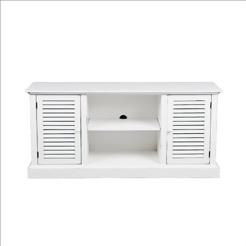 Southern Enterprises Bismark Media Stand in Antique White