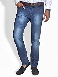 Scorzio Men's Regular Fit Jeans (SZ0003_2_Blue_32)