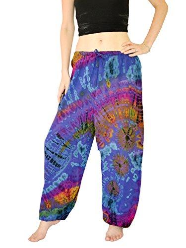 Orient Trail Womens Yoga Pajama Tie-dye Hippie Pants Crab ,Medium / Large,Crab Nebula Purple (Hippie Clothing compare prices)