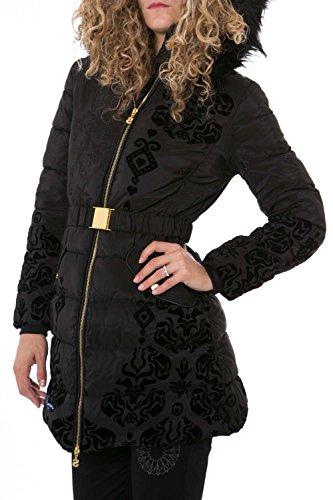 DESIGUAL - Giacchetto piumino cappotto con cappuccio da donna spirit 38 (s) nero