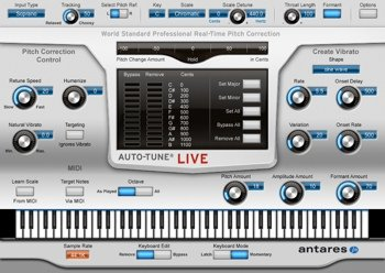 Antares Audio Auto-Tune Live  Full-Featured Automatic Pitch Correction Audio Plug-in