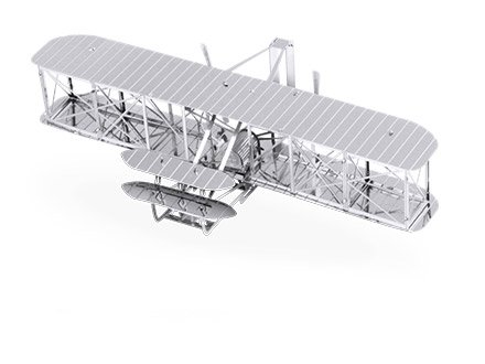 Fascinations Metal Earth 3D Laser Cut Model - Wright Brothers Airplane - 1
