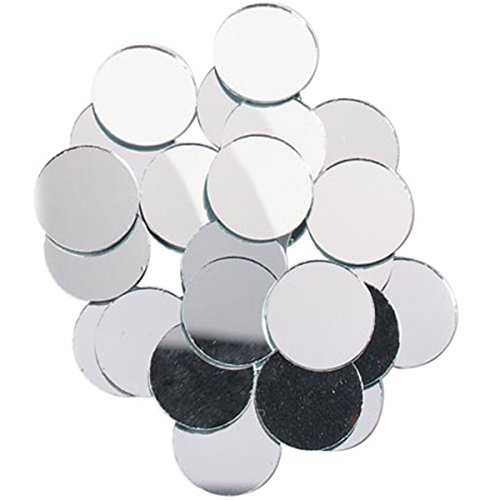 Darice 25-Piece Big Value, Round mirror, 1-Inch