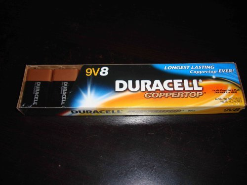 Duracell Coppertop Batteries, 9V, 8 Pack