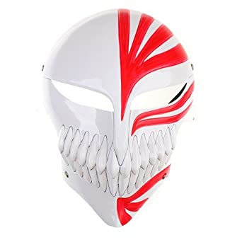 New Stylish Bleach Ichigo Cosplay Costume Full Face Hollow Mask by PSK limited