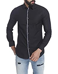 Jack & Jones Mens Casual Shirts (_5713238102938_Black_Small_)