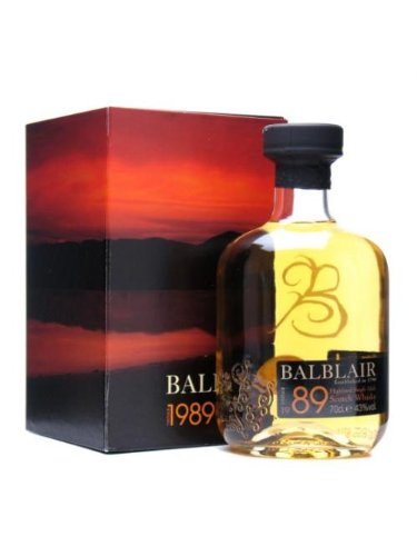 BALBLAIR 1989 Vintage Highland Malt Whisky 70cl Bottle
