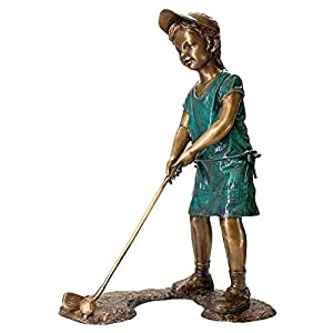 Design Toscano The Girl Golfer Garden Statue