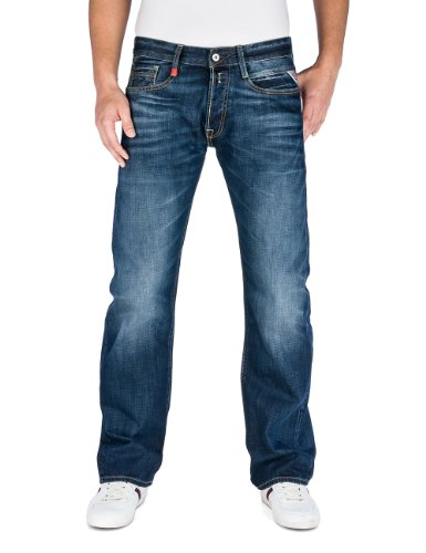 Replay Herren Boot-Cut Jeans Billstrong, Gr. W32/L34 (Herstellergröße: 32), Blau (Blue Denim) thumbnail