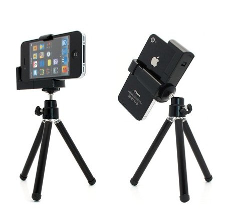sealcheスマホ用折りたたみ式三脚(旅行に最適!軽量コンパクトサイズで)スマートフォンiphoneデジタルカメラモバイル