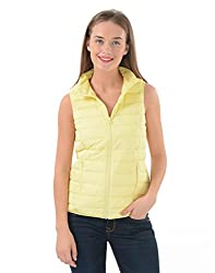 US Polo Women's Cotton Jacket (UWJK0098_Yellow_X-L)