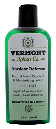Vermont Lotion Company, Original, Outdoor Defense, Natural Insect Repellent & Moisturizing Lotion, DEET Free, 4 oz