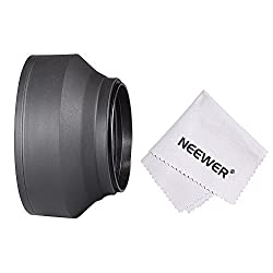 Neewer 67MM Collapsible Rubber Lens Hood for CANON REBEL (T5i T4i T3i T2i), EOS (700D 650D 600D 550D 70D 60D 7D); NIKON (D5200 D7000 D7100 D90) DSLR Cameras. 18-105mm f/3.5-5.6 AF-S DX VR ED zoom Lens.18-135mm EF-S IS STM zoom Lensd + Microfiber Cleaning Cloth