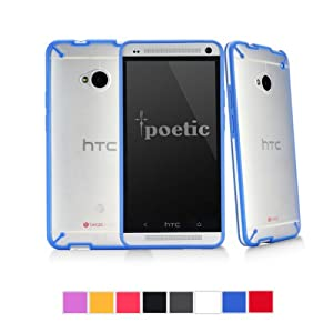Poetic Atmosphere Case for HTC One M7 Clear/Blue (3 Year Manufacturer Warranty From Poetic)
