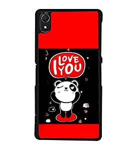 I Love You 2D Hard Polycarbonate Designer Back Case Cover for Sony Xperia Z3 :: Sony Xperia Z3 Dual :: Sony Xperia Z3 D6633