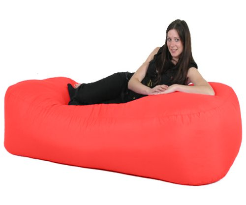 Gilda ® 6Ft Bean Bag Sofa Bed Indoor/Outdoor - Red