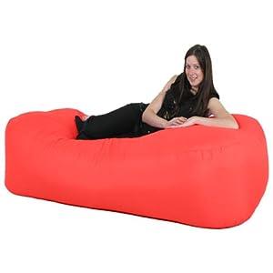 Sofa Uk Gilda 174 6ft Bean Bag Sofa Bed Indoor Outdoor Red