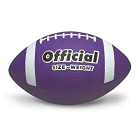 Buy Nasco PE02706E Official Size 5 Football, Purple by Nasco