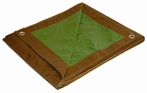 6-x-8-Dry-Top-BrownGreen-Reversible-Full-Size-7-mil-Poly-Tarp-item