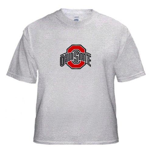 Ohio State University logo - Adult Birch-Gray-T-Shirt 3XL