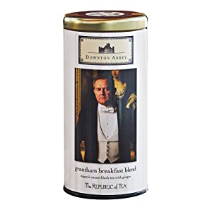 The Republic Of Tea Downton Abbey Grantham Breakfast Blend Tea Bags, 36 Tea Bags