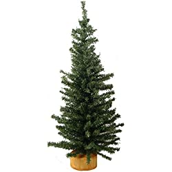 Vickerman 9227918 Unlit Mini Pine Artificial Village Christmas Tree, 18""