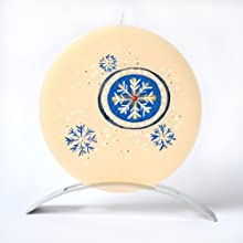 Snowflake Orion Contemporary Scented Ivory Candle
