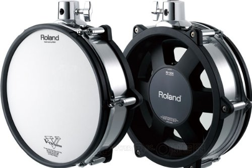 buy cheap roland pd 125x 12 mesh drum dual trigger pad chrome shell on sale electronic drums. Black Bedroom Furniture Sets. Home Design Ideas