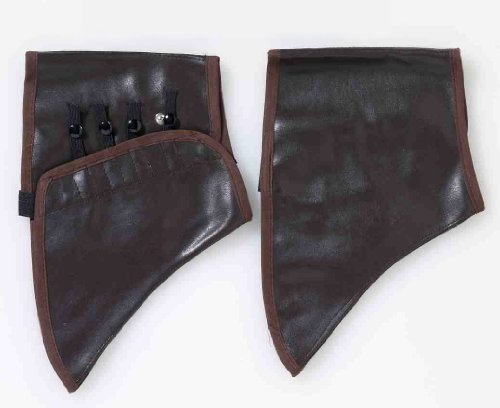 Forum Steampunk Victorian Costume Cosplay Brown Shoe Cover Spats