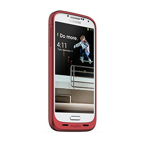 Mophie Juice Pack for Samsung Galaxy S4 - Red (Certified Refurbished) (Mophie Juice Pack S4 compare prices)