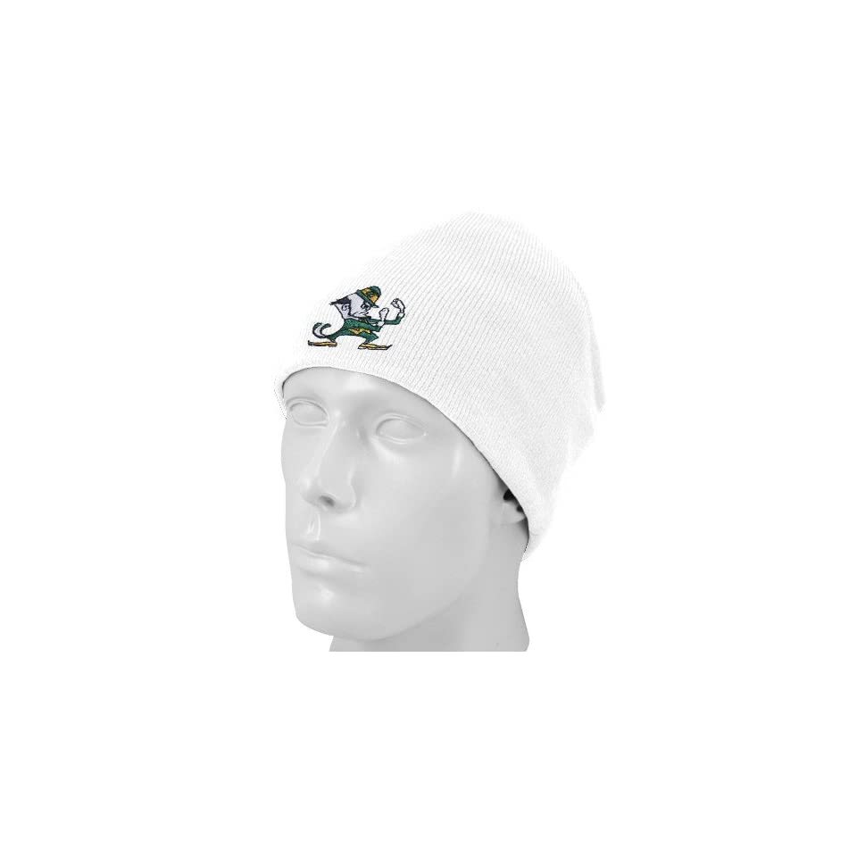 Top of the World Notre Dame Fighting Irish White Easy Does It Knit Beanie Cap