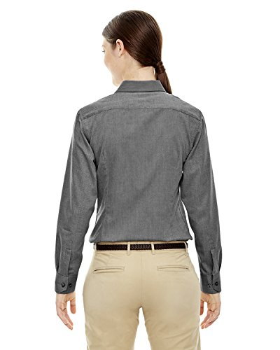 Ash City Women's Yarn-Dyed Wrinkle Resistant Dobby Shirt