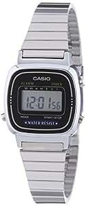 Casio - Vintage - LA670WEA-1EF - Montre Unisexe - Quartz Digital - Cadran Noir - Bracelet Acier Argent