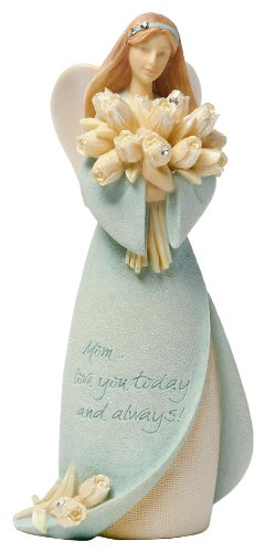 Enesco Foundations Mother Mini Angel Figurine, 4.25-Inch