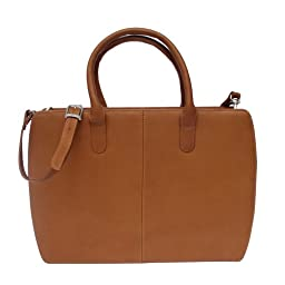 Piel Leather Women\'s Portfolio, Saddle, One Size