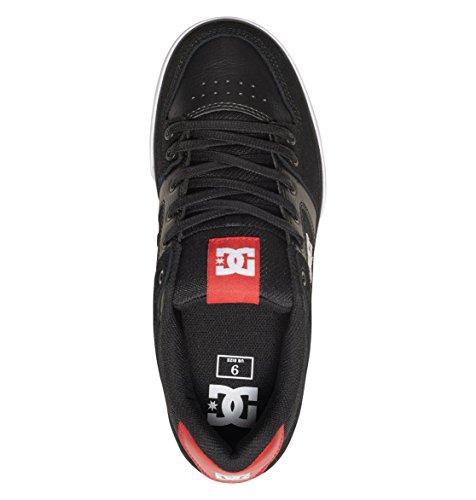 DC Men's Pure Skateboarding Shoe, Black/Athletic Red, 11 M US