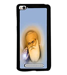 Guru Nanak 2D Hard Polycarbonate Designer Back Case Cover for Xiaomi Mi 4i :: Xiaomi Redmi Mi 4i