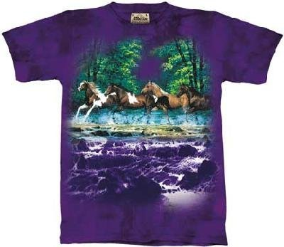 The Mountain Spring Creek Run Horses Tee T-Shirt Adult Xxl front-477305