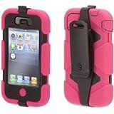 Griffin Pink/Black Heavy Duty Survivor All-Terrain Case for iPhone 4/4s